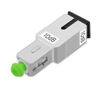 Image de Atténuateur à Fibre Optique Fixe Monomode SC/APC, Mâle-Femelle, 10dB