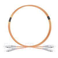 Image de 2M FC UPC vers FC UPC Duplex 2,0mm PVC (OFNR) OM1 Jarretière Optique Multimode