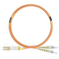 Image de 5m LC UPC vers ST UPC Duplex 2,0mm PVC (OFNR) OM1 Jarretière Optique Multimode
