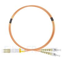 Image de 2m LC UPC vers ST UPC Duplex 2,0mm PVC (OFNR) OM1 Jarretière Optique Multimode