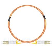 Image de 3m LC UPC vers LC UPC Duplex 2,0mm PVC (OFNR) OM2 Jarretière Optique Multimode
