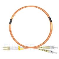 Image de 3m LC UPC vers ST UPC Duplex 2,0mm PVC (OFNR) OM2 Jarretière Optique Multimode