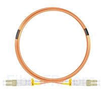 Image de 5m LC UPC vers LC UPC Duplex 2,0mm LSZH OM2 Jarretière Optique Multimode