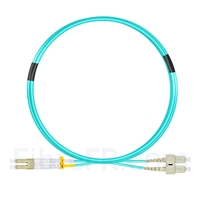 Image de 2m LC UPC vers SC UPC Duplex OM3 PVC (OFNR) 2,0mm Jarretière Optique Multimode