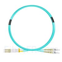 Image de 2m LC UPC vers ST UPC Duplex OM3 PVC (OFNR) 2,0mm Jarretière Optique Multimode