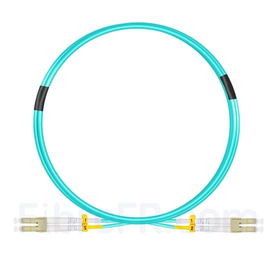 Image de 3m LC UPC vers LC UPC Duplex 2,0mm LSZH OM4 Jarretière Optique Multimode