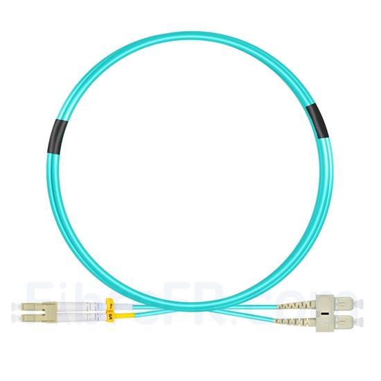 Image de 2m LC UPC vers SC UPC Duplex 2,0mm LSZH OM4 Jarretière Optique Multimode