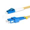 Image de 2m LC UPC vers SC UPC Duplex 2,0mm PVC (OFNR) OS2 Jarretière Optique Monomode