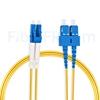 Image de 5m LC UPC vers SC UPC Duplex 2,0mm PVC (OFNR) OS2 Jarretière Optique Monomode
