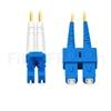 Image de 10m LC UPC vers SC UPC Duplex 2,0mm PVC (OFNR) OS2 Jarretière Optique Monomode