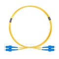 Image de 1m SC UPC vers SC UPC Duplex 2,0mm PVC (OFNR) OS2 Jarretière Optique Monomode