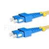 Image de 5m SC UPC vers SC UPC Duplex 2,0mm PVC (OFNR) OS2 Jarretière Optique Monomode