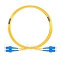 Image de 7m SC UPC vers SC UPC Duplex 2,0mm PVC (OFNR) OS2 Jarretière Optique Monomode