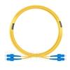 Image de 15m SC UPC vers SC UPC Duplex 2,0mm PVC (OFNR) OS2 Jarretière Optique Monomode