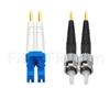 Image de 5m LC UPC vers ST UPC Duplex 2,0mm PVC (OFNR) OS2 Jarretière Optique Monomode