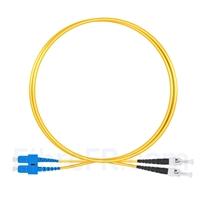 Image de 1m SC UPC vers ST UPC Duplex 2,0mm PVC (OFNR) OS2 Jarretière Optique Monomode