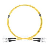 Image de 1m ST UPC vers ST UPC Duplex 2,0mm PVC (OFNR) OS2 Jarretière Optique Monomode