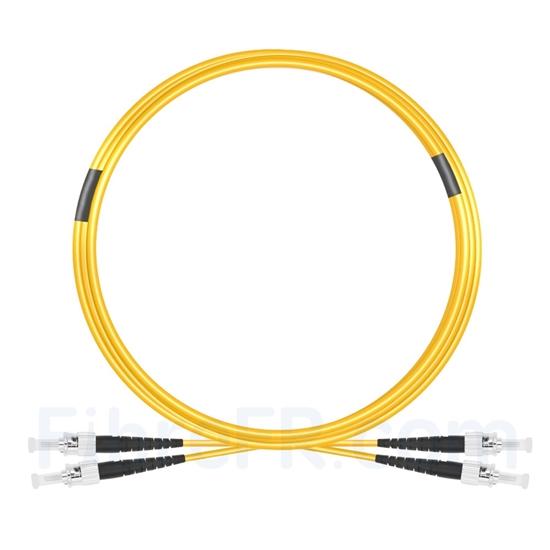 Image de 10m ST UPC vers ST UPC Duplex 2,0mm PVC (OFNR) OS2 Jarretière Optique Monomode