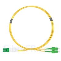 Image de 2m LC APC vers SC APC Duplex 2,0mm PVC (OFNR) OS2 Jarretière Optique Monomode
