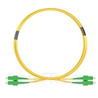 Image de 2m SC APC vers SC APC Duplex 2,0mm PVC (OFNR) OS2 Jarretière Optique Monomode
