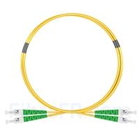 Image de 1m ST APC vers ST APC Duplex 2,0mm PVC (OFNR) OS2 Jarretière Optique Monomode