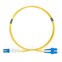 Image de 1m LC UPC vers SC UPC Duplex 2,0mm LSZH OS2 Jarretière Optique Monomode