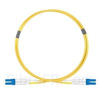 Image de 1m LC UPC vers LC UPC Duplex 2,0mm OFNP OS2 Jarretière Optique Monomode