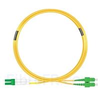 Image de 10m LC APC vers SC APC Duplex 3,0mm PVC (OFNR) 9/125 Jarretière Optique Monomode