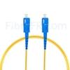 Image de 2m SC UPC vers SC UPC Simplex 2,0mm PVC (OFNR) OS2 Jarretière Optique Monomode