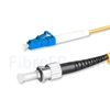 Image de 10m LC UPC vers ST UPC Simplex 2,0mm PVC (OFNR) OS2 Jarretière Optique Monomode