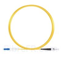 Image de 2m LC UPC vers ST UPC Simplex 2,0mm PVC (OFNR) OS2 Jarretière Optique Monomode