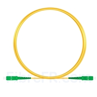Image de 2m SC APC vers SC APC Simplex 2,0mm PVC (OFNR) OS2 Jarretière Optique Monomode