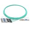 Image de 7m Brocade 100G-Q28-S28-AOC-0701 Compatible Câble Optique Actif Breakout QSFP28 100G vers 4 x SFP28