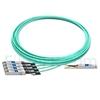 Image de 15m Brocade 100G-Q28-S28-AOC-1501 Compatible Câble Optique Actif Breakout QSFP28 100G vers 4 x SFP28