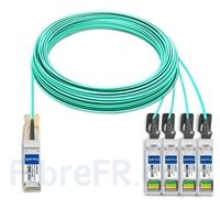 Image de 50m Brocade 100G-Q28-S28-AOC-5001 Compatible Câble Optique Actif Breakout QSFP28 100G vers 4 x SFP28