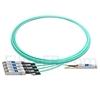 Image de 5m Cisco QSFP-4SFP25G-AOC5M Compatible Câble Optique Actif Breakout QSFP28 100G vers 4 x SFP28