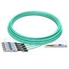 Image de 30m Extreme Networks Compatible Câble Optique Actif Breakout QSFP28 100G vers 4 x SFP28