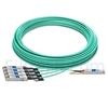 Image de 50m Extreme Networks Compatible Câble Optique Actif Breakout QSFP28 100G vers 4 x SFP28