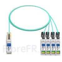 Image de 2m H3C QSFP28-4SFP28-AOC-2M Compatible Câble Optique Actif Breakout QSFP28 100G vers 4 x SFP28