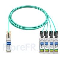Image de 10m H3C QSFP28-4SFP28-AOC-10M Compatible Câble Optique Actif Breakout QSFP28 100G vers 4 x SFP28