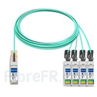 Image de 15m H3C QSFP28-4SFP28-AOC-15M Compatible Câble Optique Actif Breakout QSFP28 100G vers 4 x SFP28