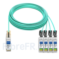 Image de 50m H3C QSFP28-4SFP28-AOC-50M Compatible Câble Optique Actif Breakout QSFP28 100G vers 4 x SFP28