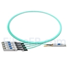 Image de 2m HUAWEI AOC-Q28-S28-2M Compatible Câble Optique Actif Breakout QSFP28 100G vers 4 x SFP28