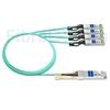 Image de 5m HUAWEI AOC-Q28-S28-5M Compatible Câble Optique Actif Breakout QSFP28 100G vers 4 x SFP28