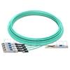 Image de 25m HUAWEI AOC-Q28-S28-25M Compatible Câble Optique Actif Breakout QSFP28 100G vers 4 x SFP28