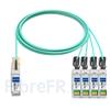Image de 10m Juniper Networks JNP-100G-4X25G-10M Compatible Câble Optique Actif Breakout QSFP28 100G vers 4 x SFP28