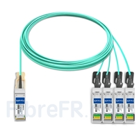 Image de 15m Juniper Networks JNP-100G-4X25G-15M Compatible Câble Optique Actif Breakout QSFP28 100G vers 4 x SFP28