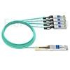 Image de 20m Juniper Networks JNP-100G-4X25G-20M Compatible Câble Optique Actif Breakout QSFP28 100G vers 4 x SFP28