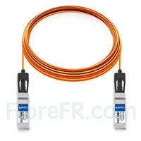 Image de 25m HUAWEI SFP-10G-AOC25M Compatible Câble Optique Actif SFP+ 10G