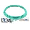 Image de 25m Avago AFBR-7IER25Z Compatible Câble Optique Actif Breakout QSFP+ 40G vers 4 x SFP+